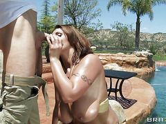 Poolside Pounding with Eva Notty